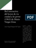 «Rol interactivo del lector de La ciudad y los perros (1963) de Mario Vargas Llosa»