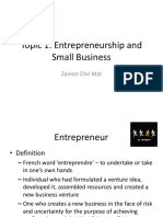 Topic 1-Entrepreneurship and Small       Business.pptx