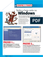 Ajuste do relógio do Windows