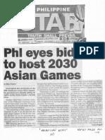 Philippine Star, Dec. 5, 2019, Phl eyes bid to host 2030 Asia Games.pdf