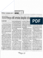 Philippine Star, Dec. 5, 2019, 16 M Pinoys still smoke despite tobacco crackdown.pdf