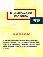 Planning a Gage RR Study