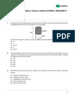 Exercíciosbixo-matemática-Exercícios Sobre Cilindros, Cones e Esferas (FUVEST, UNICAMP E UNESP)-04!12!219-7aec327603f13f7443d5f63446c342a7