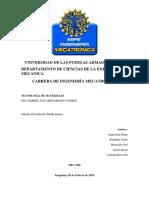 Informe Fundición Calavera