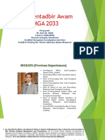 Etika Pentadbir Awam GMGA 2033 Bab 1 Dan 2