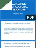 Evaluating Multicultural Literature