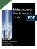 Pre Dimensionamento Das Formas Dos Elementos de Concreto