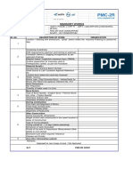 Masonry Work check list