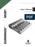 Behringer MXB1002 Mixer Manual