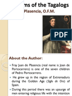 5 Customs of the Tagalogs by Plasencia