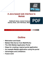 A Java Based Web Interface to Matlab