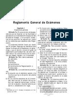 13 Reglamento General de Examenes