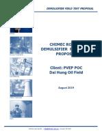Chimec Ro 122d Demulsifier Field Test Proposal