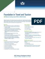 Training Foundation Travel Tourism Tttg01