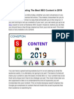 Tips for Creating the Best SEO Content in 2019