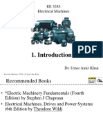 Introduction of Electrical Machines