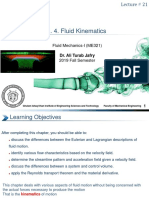 CHAPTER # 4 fluid kinematics
