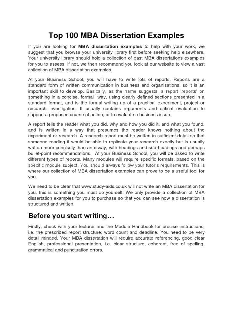Top paper writer website for mba thesis and assignment writing