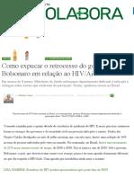 Como explicar retrocesso do governo Bolsonaro em relação ao HIV:Aids?