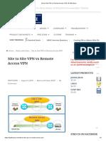 Site to site vpn Vs Remote vpn
