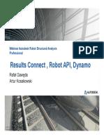 Webinar N°9 Results Connect , Robot API, Dynamo