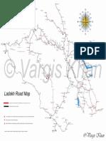 Ladakh Road Map Vargis Khan