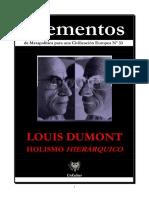 Elementos 33 Louis Dumont - Holismo Hierárquico