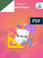 Cbse 12th Mathematics 2019 Paper 88