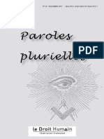 Paroles Plurielles