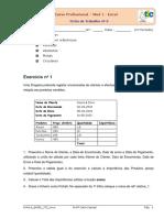 Curso Profissional Mod 1 - Excel. Ficha de Trabalho Nº 6