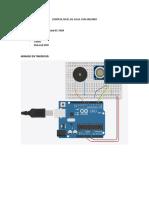 Control Nivel de Agua - Sensor Proximidad y Buzzer Alarma
