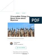 11 stunning places of Myanmar