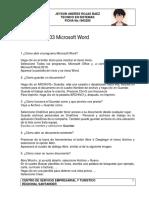 Cuestionario de Word