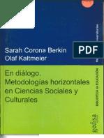 En Dialogo. Metodologias Horizontales en Ciencias Sociales y Culturales