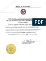 Statewide Certification of Legislative Offices Composed of a Single County