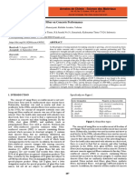 Effect of Additional Fiberglass Fiber on Concrete Performance