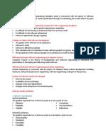 Software Engineering Short Notes
