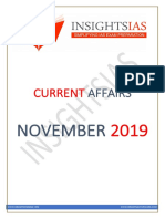 Insights November 2019 Current Affairs Compilation