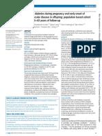 Maternal diabetes during pregnancy