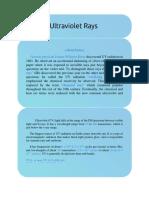 UV Rays Science