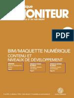 2014 05 09 Cahier Moniteur Bim Maquette Contenu Niveau Developpement