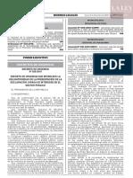 Decreto de urgencia N° 020-2019
