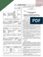 Decreto de urgencia N° 021-2019