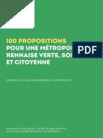 Propositions Métropole