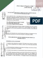 Acta de Proclamación del Comité Electoral - CAL