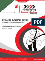 Edital SESI Palco Aberto 2017