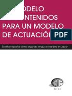 Un Modelo de Contenidos Para Un Modelo de Actuación - Gide