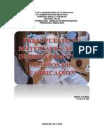 Presupuestos de Materiales, Mano de obra directa y Gastos de Fabricacion