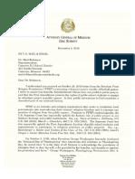 Missouri Attorney Eric Schmitt's letter to Cameron High School football coach