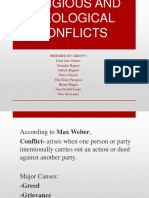 ETHNIC, RELIGIOUS AND IDEOLOGICAL CONFLICTS